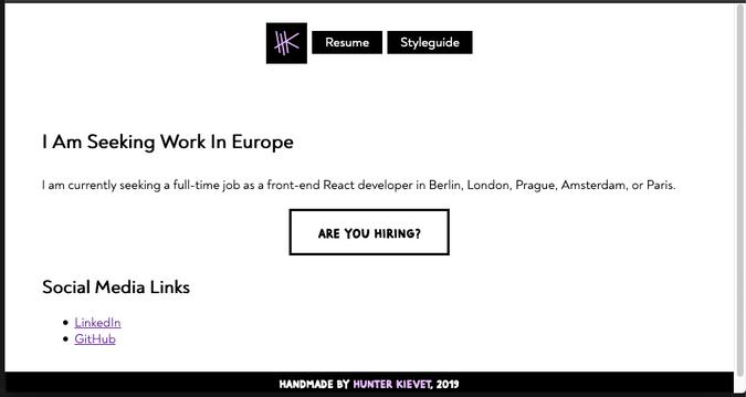 Desktop view of hkievet.com in 2019