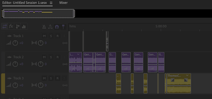 Adobe Audition showing a NAPP