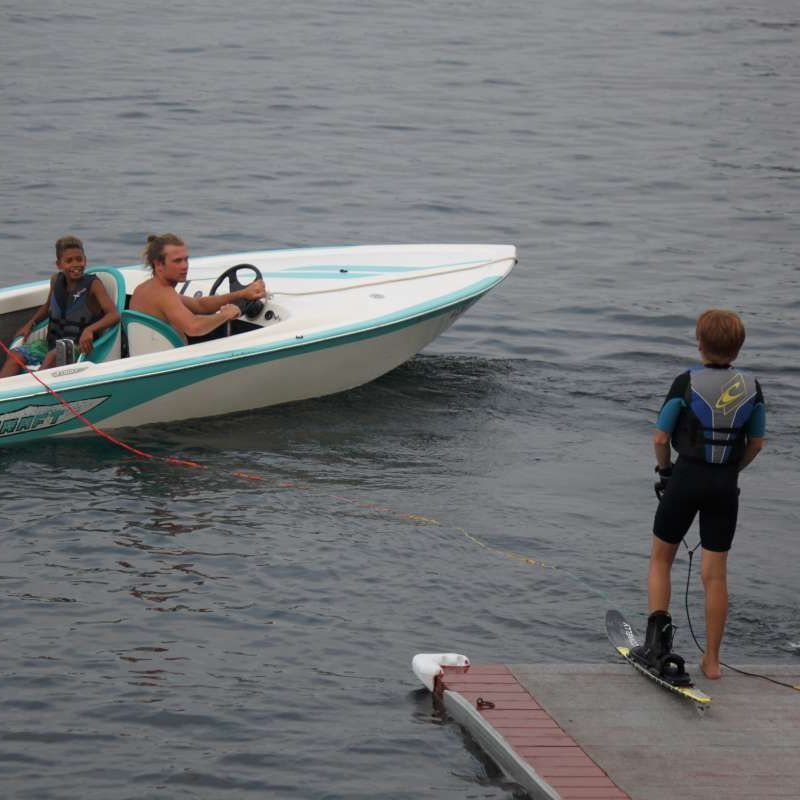 Camper training in the waterski program at Canadian Adventure Camp