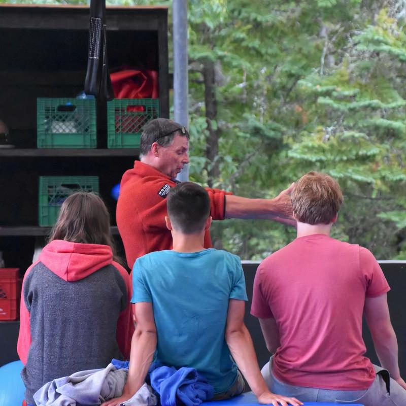 Bill Rhoads conducting NCCP course at Canadian Adventure Camp