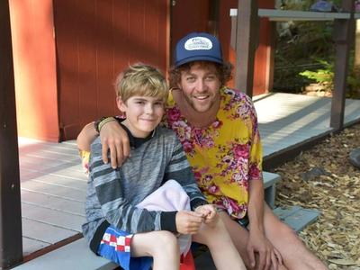 counsellor and camper smiling at the camera at Canadian Adventure Camp