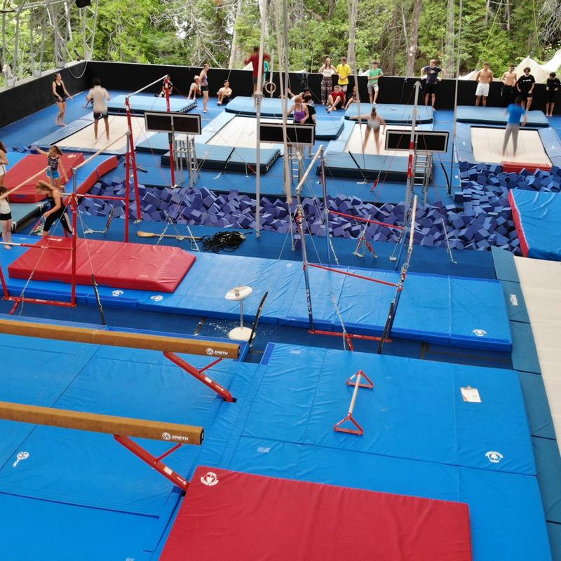 gymnastics and trampoline centre at Canadian Adventure Camp
