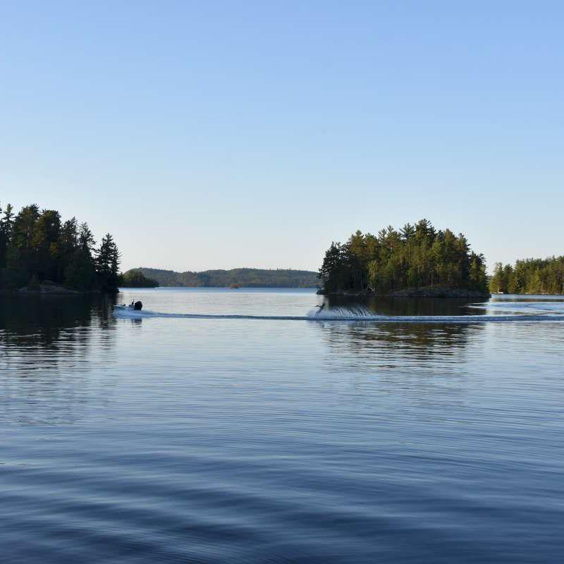 view of lake Temagami at Canadian Adventure Camp
