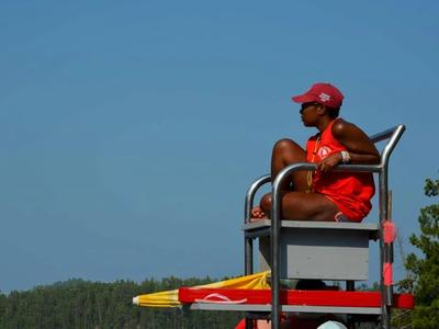 lifeguard on duty at Canadian Adventure Camp