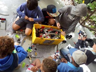 group of campers building lego at Canadian Adventure Camp