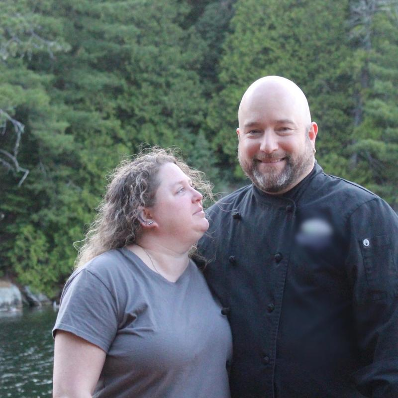 Chef Mike and Meagan at Canadian Adventure Camp