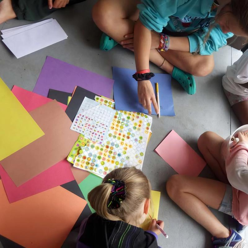 letter writing activity for campers at Canadian Adventure Camp