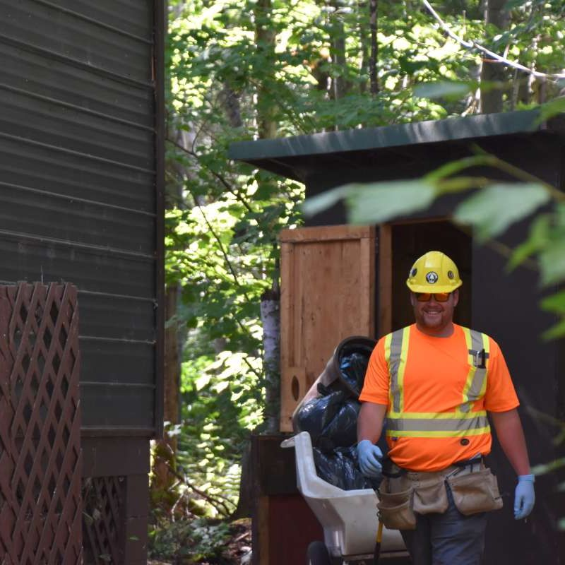 maintenance staff working at Canadian Adventure Camp
