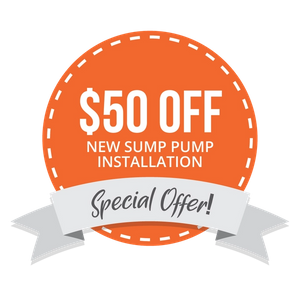 $50 Off New Sump Pump Installation
