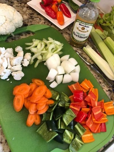pickling veggies