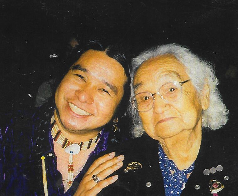 Grandma Ivy with Johnny Moses