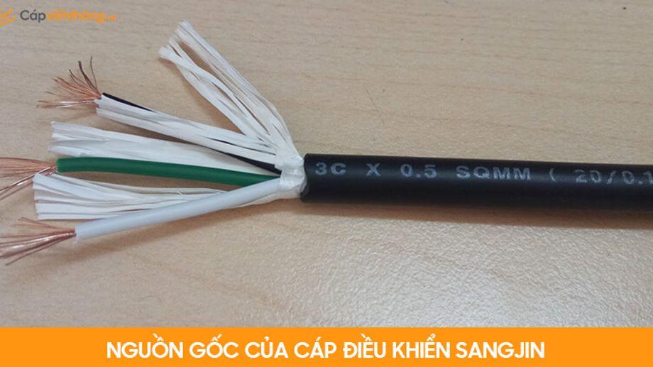 Nguồn gốc cáp điều khiển Sangjin