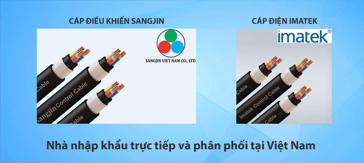 Nhà nhập khẩu trực tiếp và phân phối Cáp điểu khiển Sangjin, Cáp điện Imatek tại Việt Nam