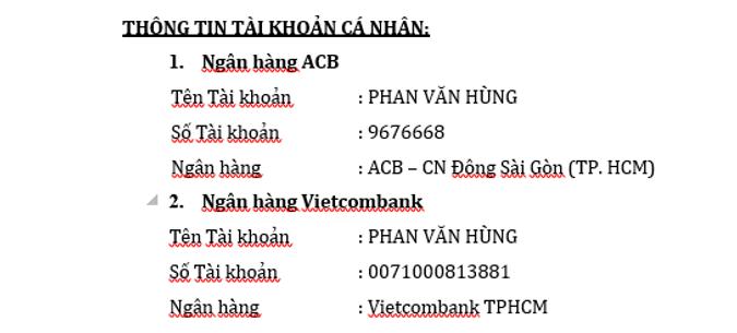 Tài khoản công ty đối với hàng Sangjin