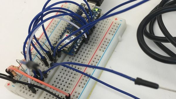 Arduino capacitive sensors with a bunch of cables