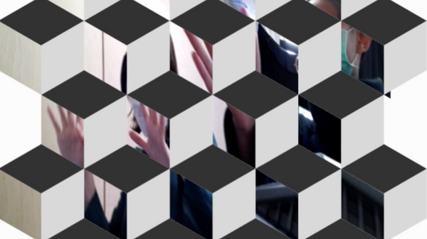 Cube mirrors in p5.js with En Tung Liu
