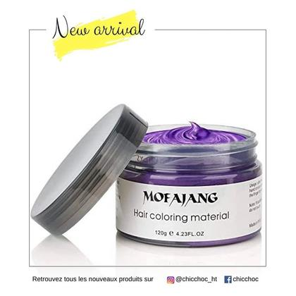 Color Hair Wax Purple | Hair Coloring Material