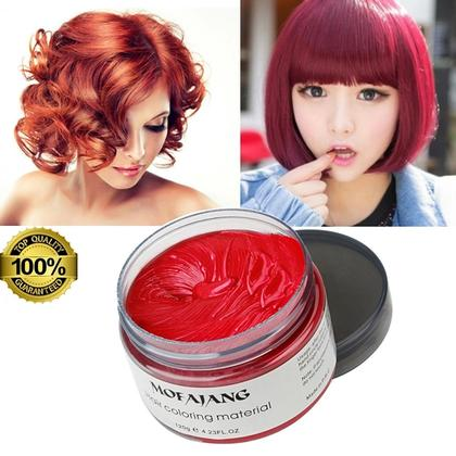 Color Hair Wax RED 120g | Hair Coloring Material