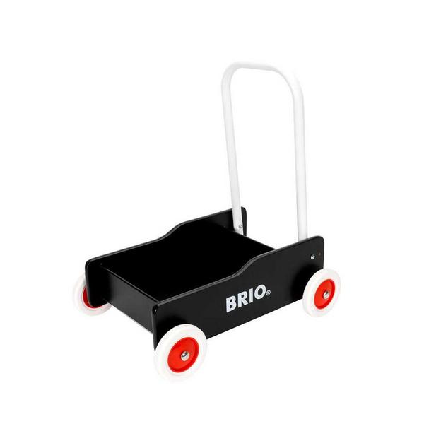 BRIOs klassiska lära-gå-vagn i svart