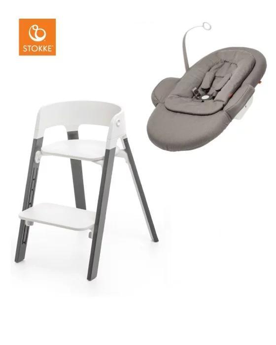 Stokke steps med set för nyfödd