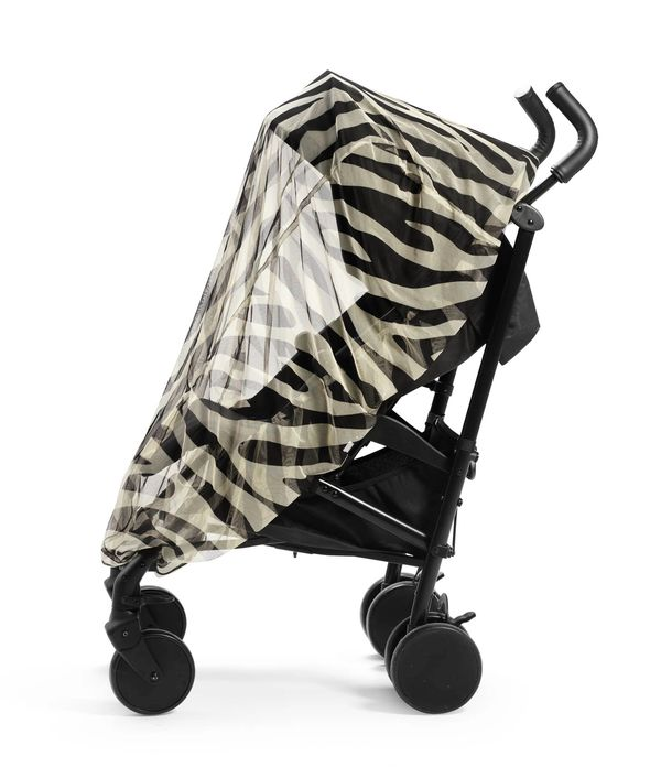 Elodie Details Myggnät Zebra Sunshine monterat på barnvagn