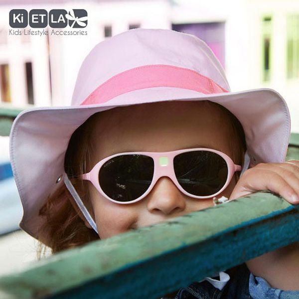 Solglasögon pastellrosa, för barn 2-4 år.