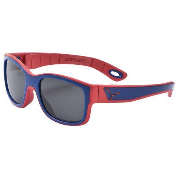 Solglasögon röd/mörkblå, för barn 3-5 år.