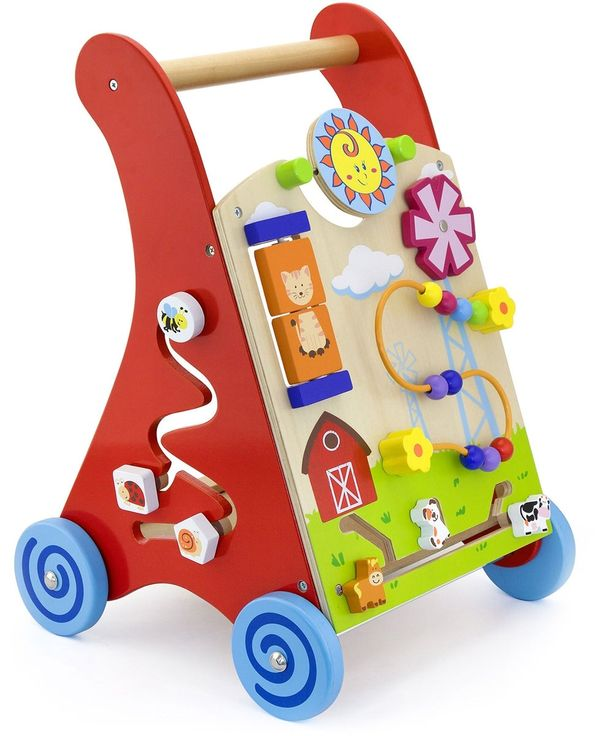 En maxad lära-gå-vagn från VIGA