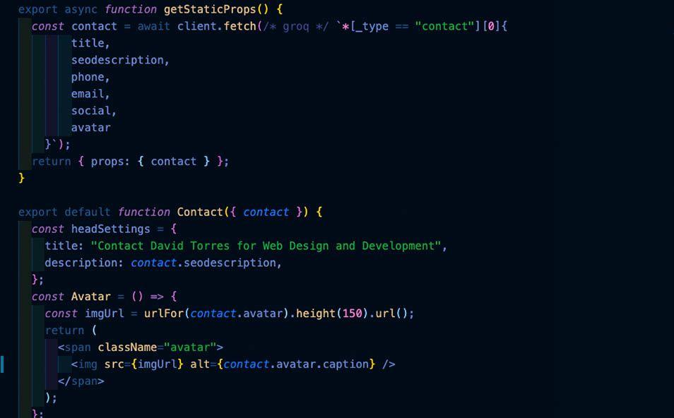 Custom code using NextJS, Sanity, Github, and Netlify