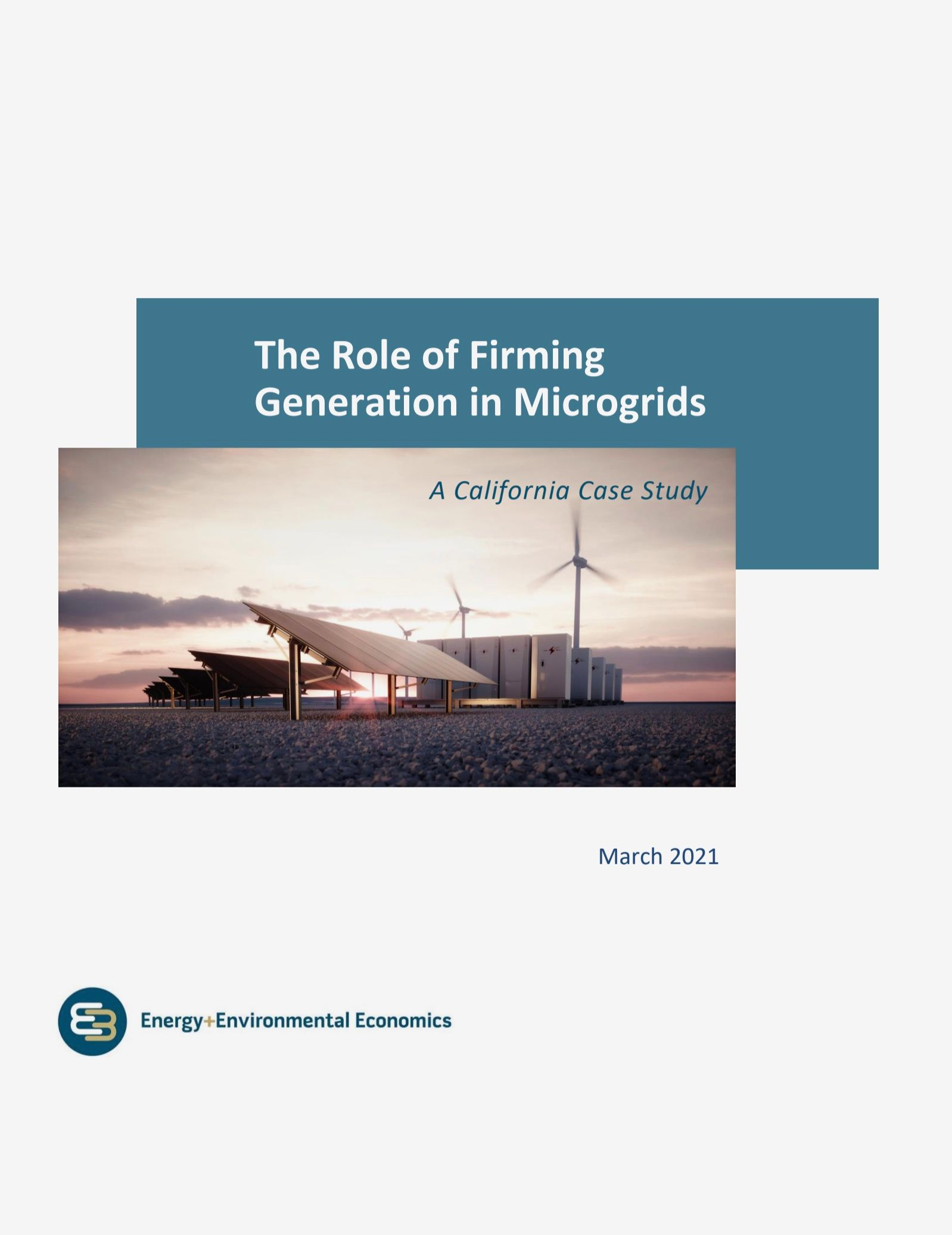 The Role of Firming Generation in Microgrids