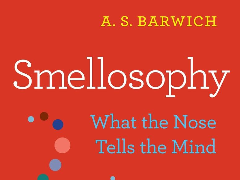 The red cover of the book Smellosophy.