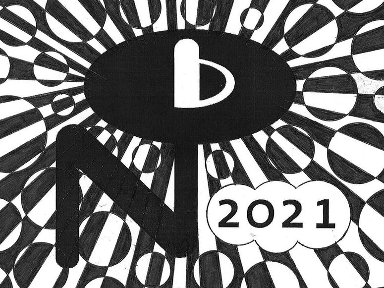 A Numero Group illustration in black and white.