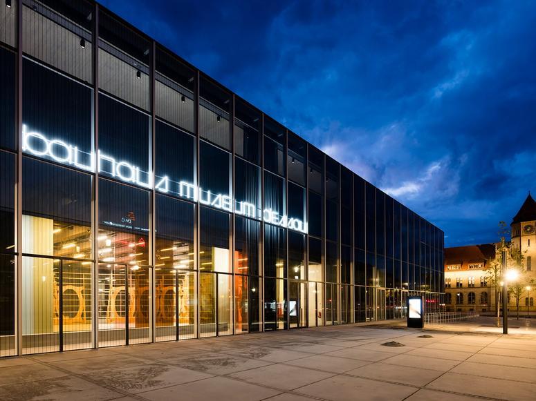 The entrance to the Bauhaus Museum Dessau.