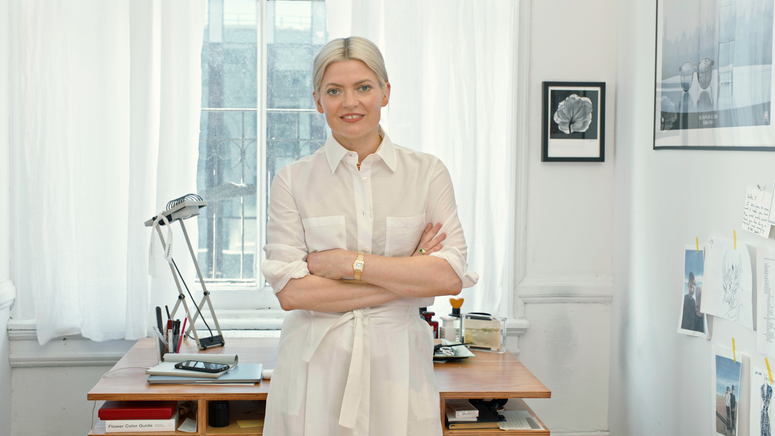 Stylist Kate Young in her New York studio.