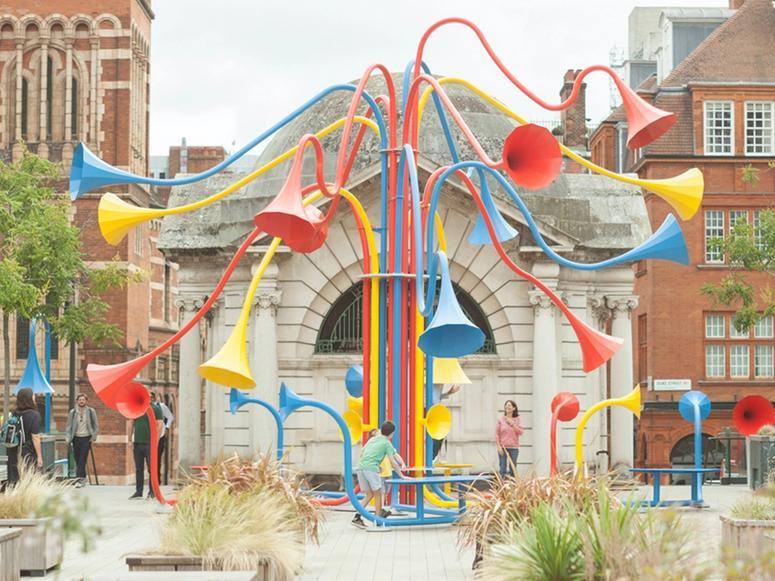 """""""Sonic Bloom"""" outdoor sculpture by Yuri Suzuki"""