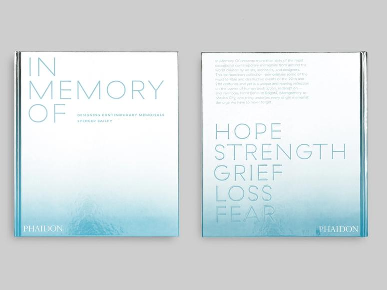 """The front and back cover of Spencer Bailey's book, """"In Memory Of: Designing Contemporary Memorials"""""""