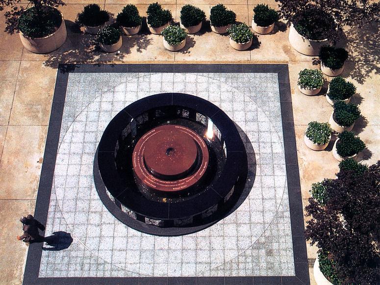 Elyn Zimmerman's 1993 World Trade Center bombing memorial