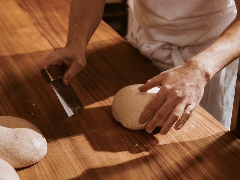 A baker making bread