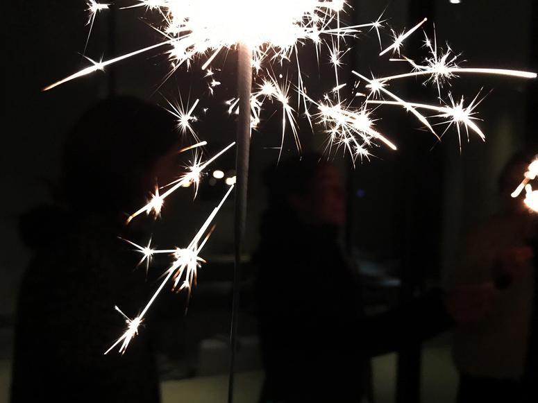 A sparkler firecracker.