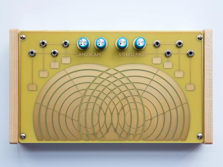 Landscape's Stereo Field, a yellow and gold synthesizer.