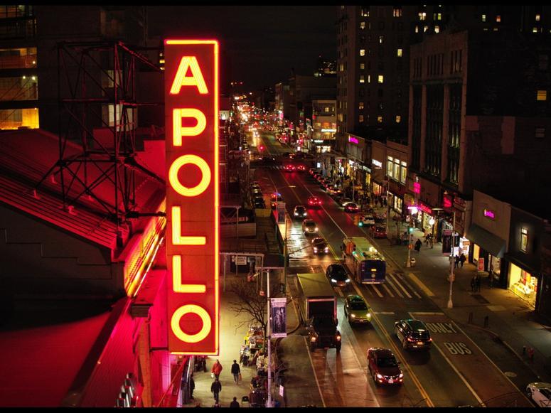 The Apollo Theater's neon marquee.