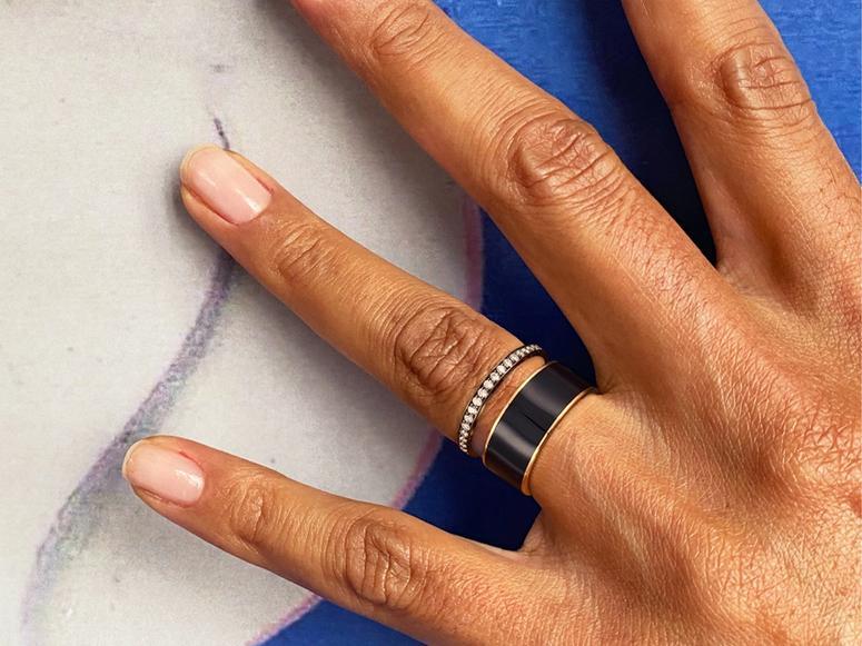 Hand wearing Repossi Berbere ring