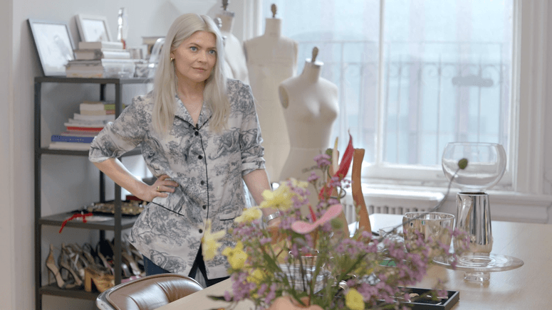 Fashion stylist Kate Young in her office in New York