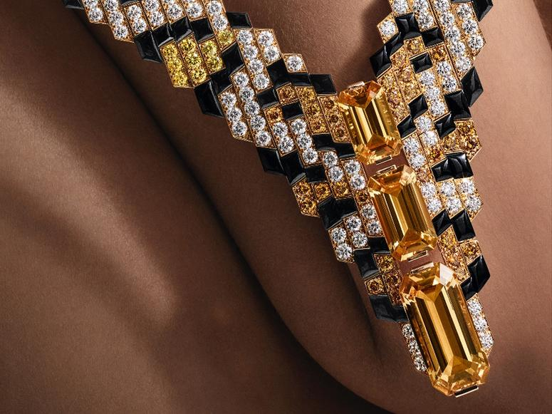 Cartier's Pixelage necklace