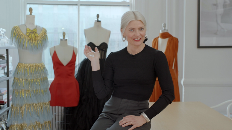 Fashion stylist Kate Young in her studio.