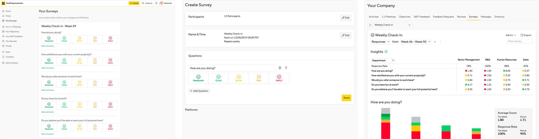 First Surveys Prototype Screenshot