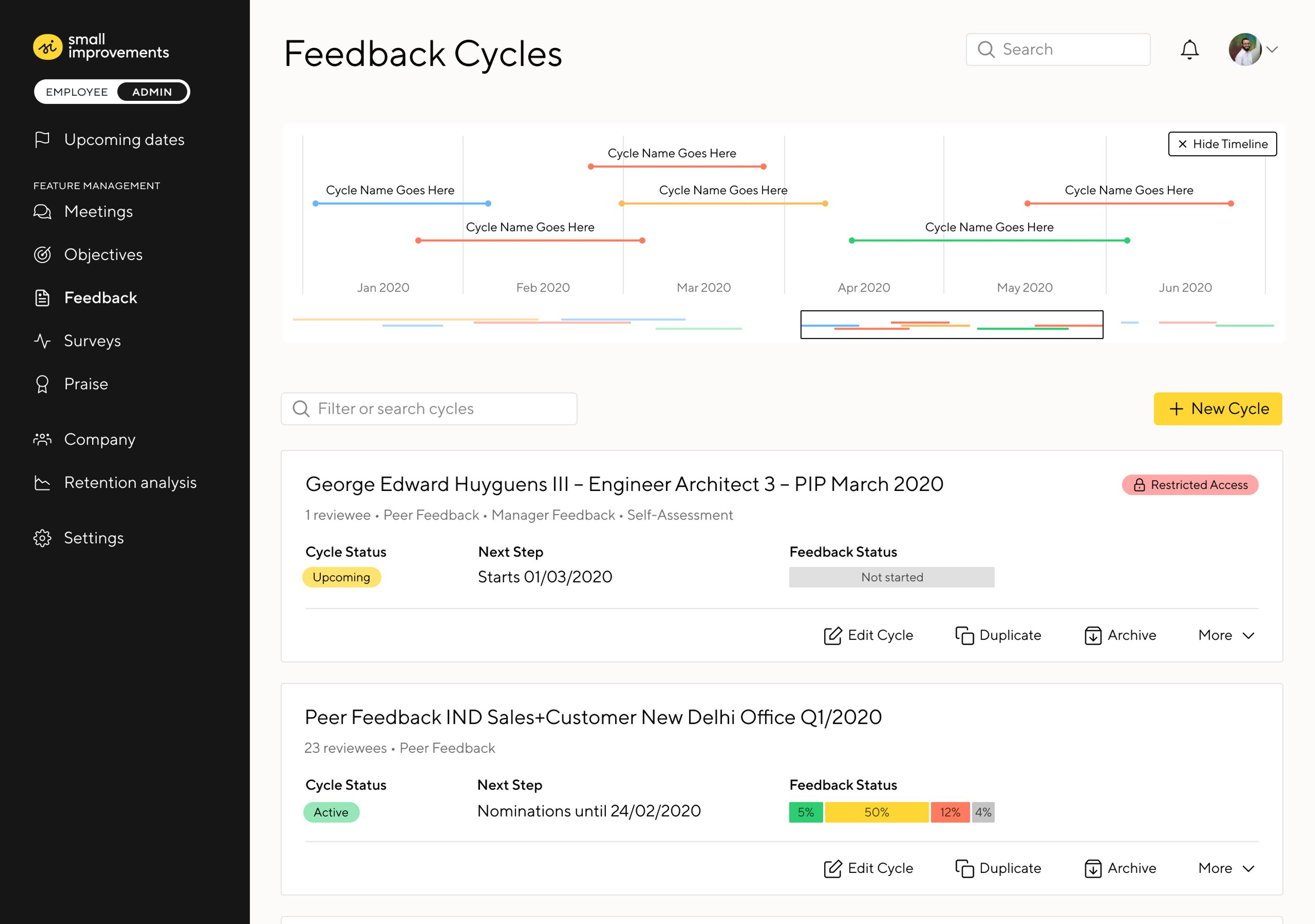 Feedback Cycles