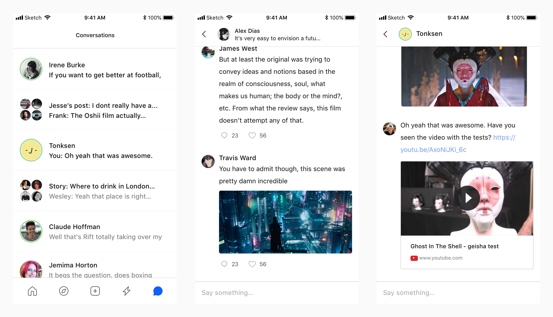 Hubrick conversations mobile screenshot