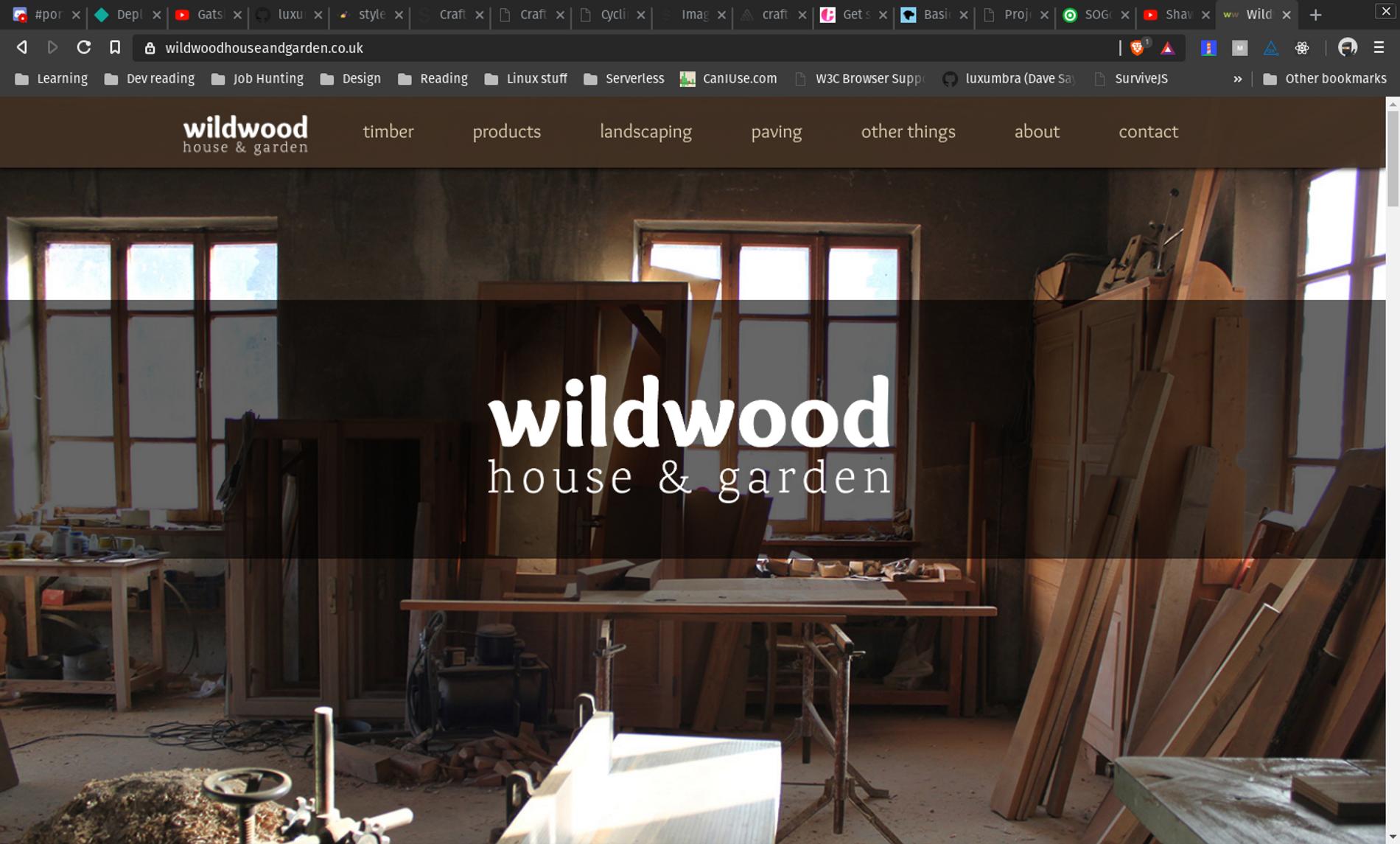 WildWood Website screen shot.
