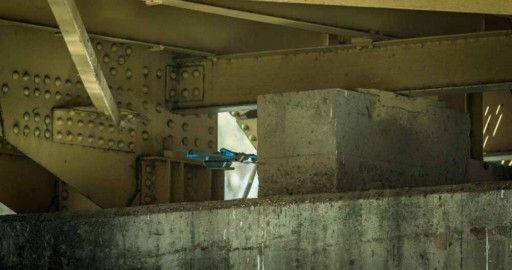 Skydio 2 inspecting the underside of a bridge